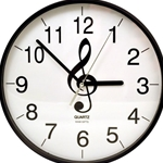 "10"" Music G-Clef Wall Clock"