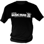 Ernie Ball Music Man T-Shirt - Black, Large