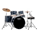 "Mapex Rebel Complete 5-Piece Drum Kit, 20"" Bass Drum - Royal Blue"