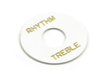 Rhythm/Treble | Guitar Switchwasher | White/Gold