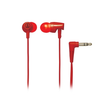 Audio-Technica ATHCLR100 Clear In-Ear Headphones - Red