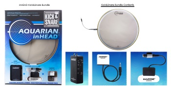 Aquarian inHEAD Kick & Snare Bundle Pack