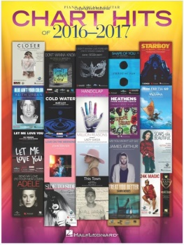 Chart Hits of 2016-2017 Songbook Easy Piano