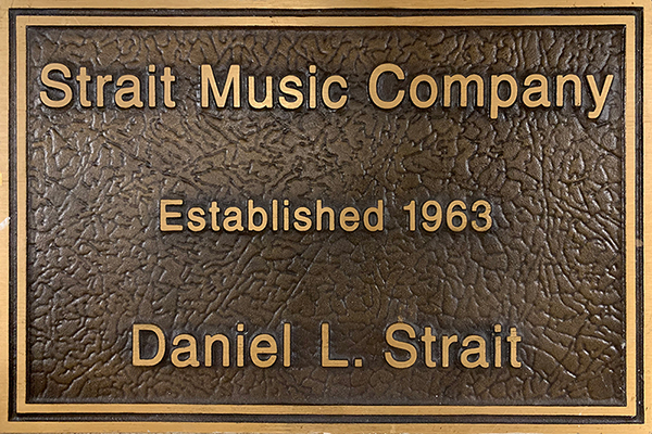 Strait Music Company Established 1963 by Dan Strait
