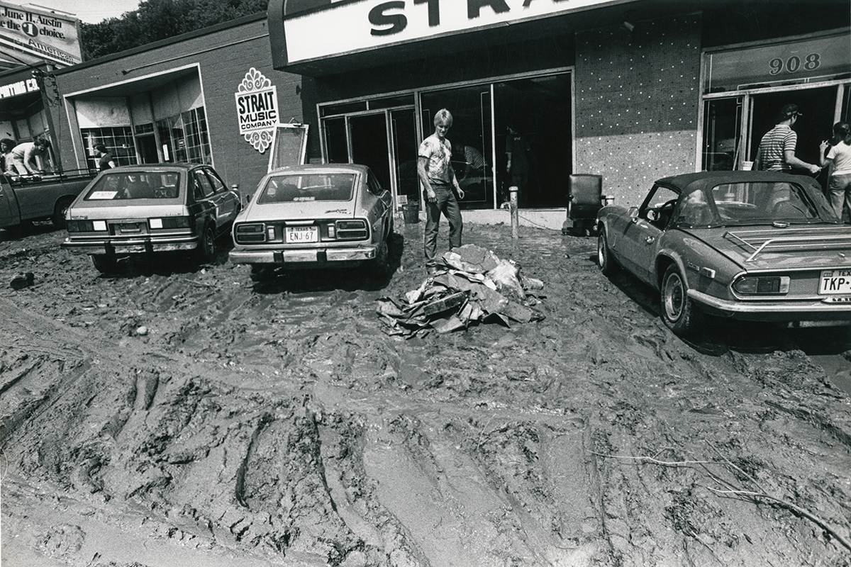 Strait Music Flood Storefront Mud