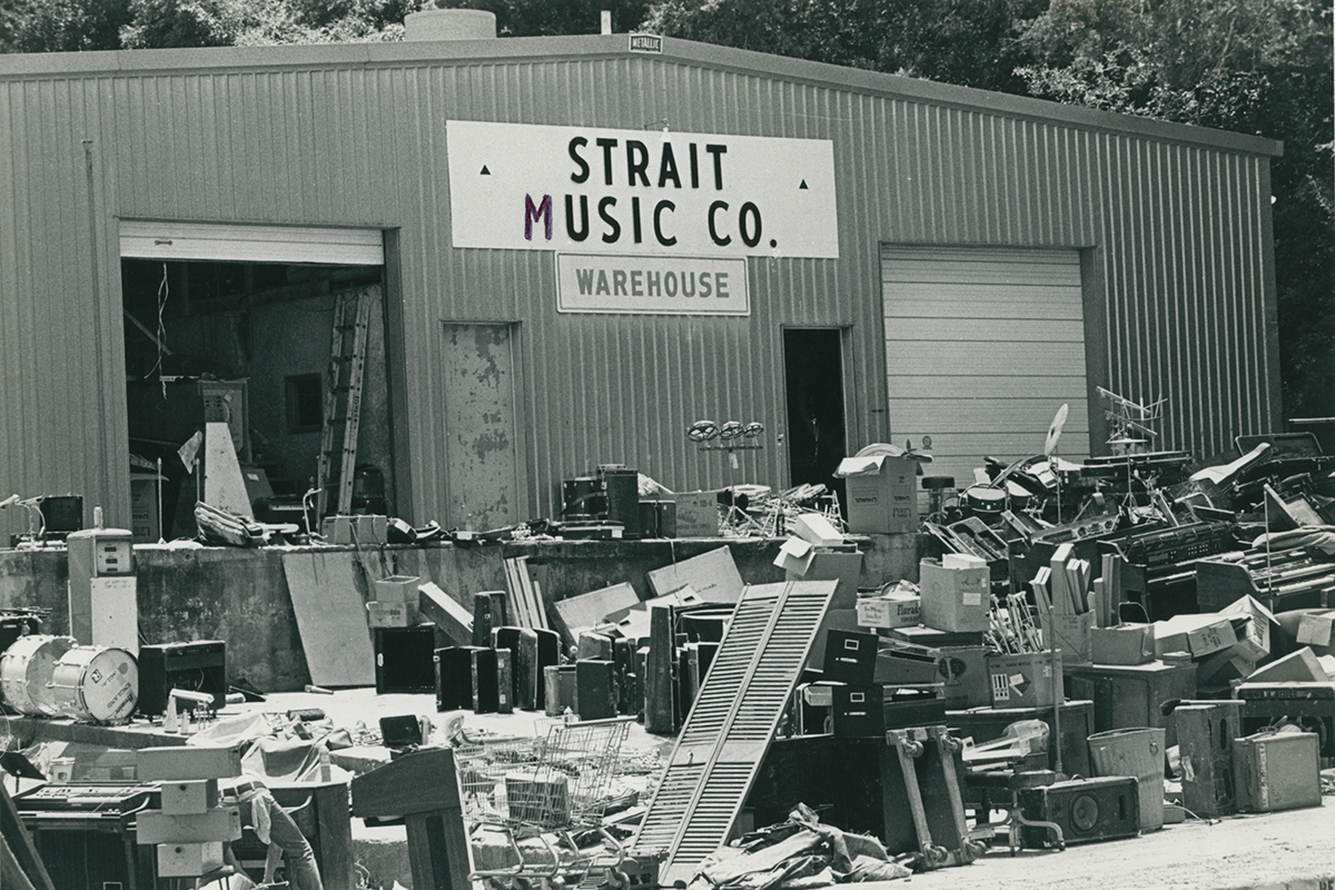 Strait Music Flood Storefront