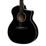 Taylor 214ce-BLK-DLX Black Deluxe Grand Auditorium Acoustic-Electric Guitar