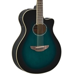 Yamaha APX600 Thin Body Acoustic-Electric Guitar - Oriental Blue Burst