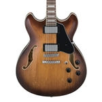 Ibanez AS73 Semi-Hollow Electric Guitar - Laurel Fretboard, Tobacco Brown
