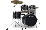 Tama IP52NBCBK Imperialstar 5-Piece Drum Set with Cymbals - Gloss Black