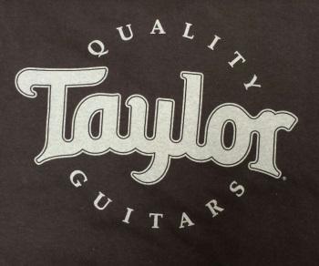 strait music taylor guitars t shirt dark brown large. Black Bedroom Furniture Sets. Home Design Ideas