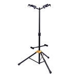 Hercules GS422B PLUS Auto Grip System (AGS) Double Guitar Stand with Foldable Backrest