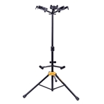 Hercules GS432B PLUS Auto Grip System (AGS) Triple Guitar Stand with Foldable Backrest