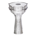Meinl HE-314 Darbuka - 8in Aluminum Jingle, Hand Hammered
