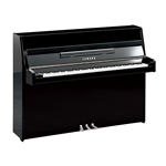 "Yamaha 43"" Continental Style Upright in Polished Ebony with Chrome"