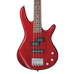Ibanez GSRM20 Mikro Bass - Transparent Red with Jatoba Fingerboard