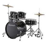 Ludwig LC17011 Accent Fuse 5-Piece Drum Set - Black