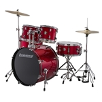 Ludwig Accent Fuse 5-Piece Drum Set - Red Foil