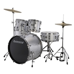 Ludwig Accent Fuse 5-Piece Drum Set - Silver Foil