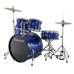 Ludwig Accent Fuse 5-Piece Drum Set - Blue Foil