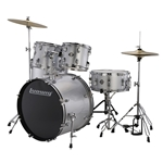 Ludwig Accent Drive 5-Piece Drum Set - Silver Foil