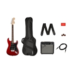 Squier Affinity Strat HSS Pack - Candy Apple Red with Amp