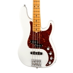 Fender American Ultra Precision Bass - Arctic Pearl with Maple Fingerboard