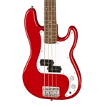 Fender Mini Precision Bass - Red with Laurel Fingerboard
