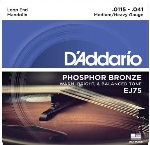 D'Addario EJ75 Phosphor Bronze Medium/Heavy Mandolin Strings (11.5-41)