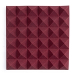 "Gator Frameworks Acoustic Treatment Pyramid Panels - 12""x12"" Burgundy 2-Pack"