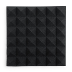 "Gator Frameworks Acoustic Treatment Pyramid Panels - 12""x12"" Charcoal 2-Pack"
