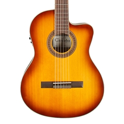 Cordoba C5-CE Solid Top Classical - Cutaway with Electronics, Sunburst