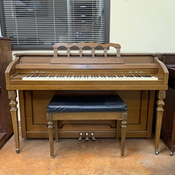 Cable 1969 Spinet Piano - Pecan