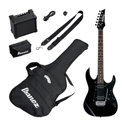Ibanez IJRX20 Jumpstart Electric Guitar Pack - Black with 10w Amp